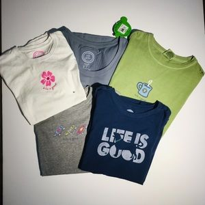 Life is good Tee Bundle of 5